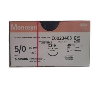 Monosyn Quick Undyed 5/0 19mm DS19 70cm, Box36