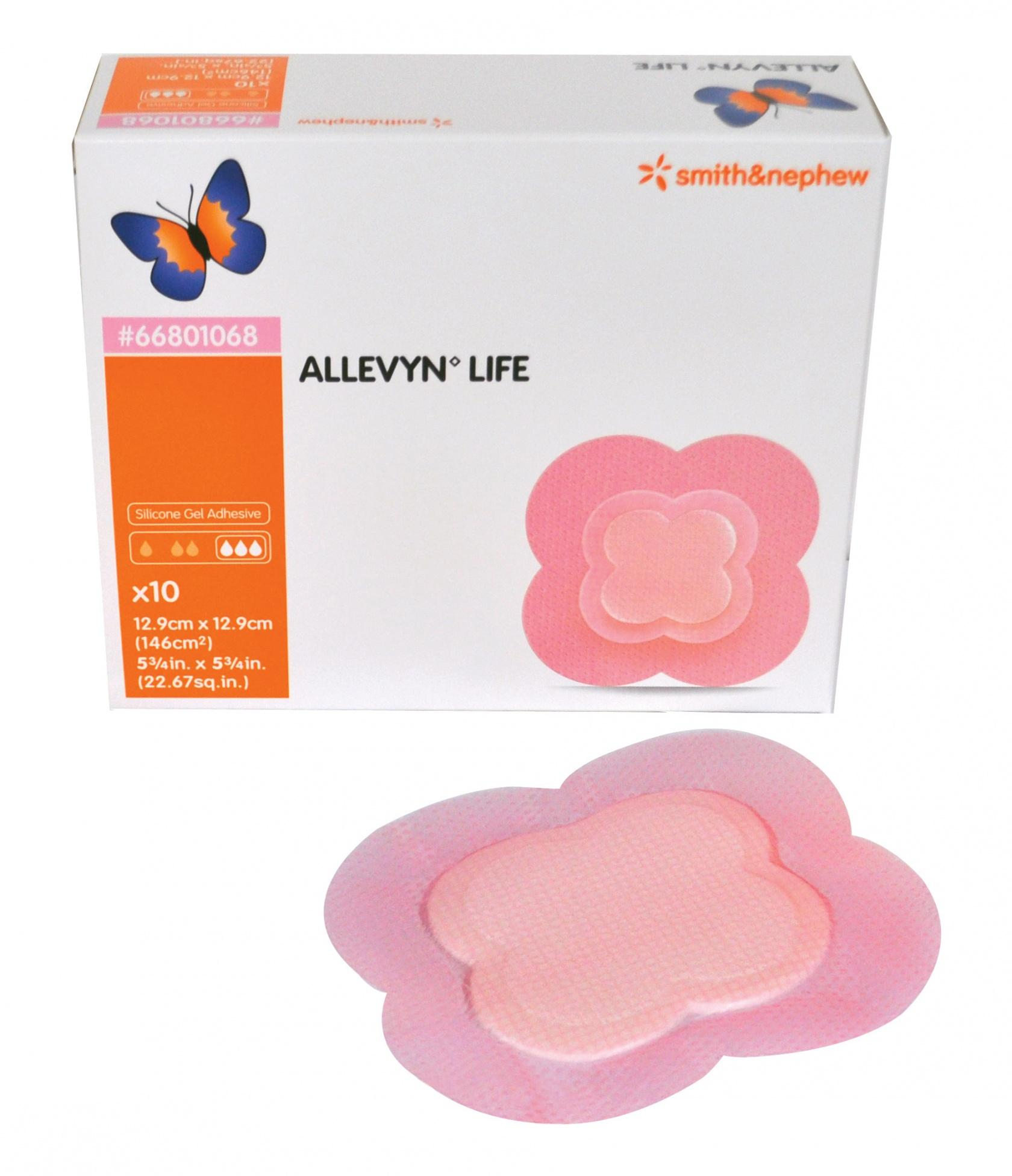 ALLEVYN LIFE MEDIUM 12.9CMx12.9CM, BOX 10