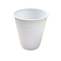 White Plastic Drinking Cups, 200ml