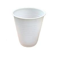 WHITE PLASTIC DRINKING CUPS 180ML CTN 1000