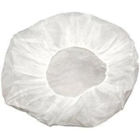 Bouffant Round Cap White