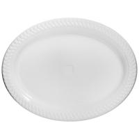 PLASTIC PLATE, 300 X 230 MM, WHITE, PKT 12