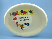 PLASTIC BOWL 180MM, WHITE 8G, PKT 16