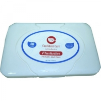CONFIDENT CARE FLUSHETTES ADULT WIPES PKT 40