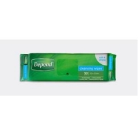 Depend Cleansing Wipes 20x30cm, Pkt 50