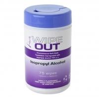 ISOPROPYL IPA WIPES 42CMx14CM REYNARD, TUB 75 - Click for more info