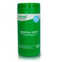 Clinell Sanitising Wipes Tub 100's