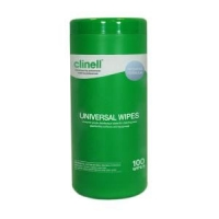 Clinell Universal Sanitising Wipes, Tub 100's