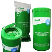 CLINELL SANITISING WIPES TUB REFILL 100 EACH