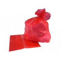 RED SOLUBLE SEAM LAUNDRY BAGS, CTN 200