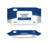 ALCOHOL WIPES 75% CARESOUR, PACK 50 - Click for more info