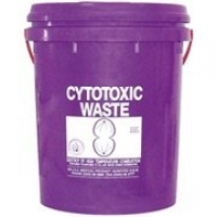 Cytotoxic Disposal Bucket 23 Litre with Lid, each