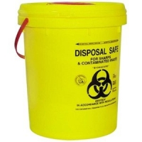 DISPOSABLE BUCKET 23L WITH LID YELLOW, EACH