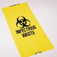 27L Infectious Waste Bags Yellow, Box 100