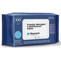 PREMIER DETERGENT & DISINFECTANT WIPES REYNARD - SOFT PACK, PKT 100 - Click for more info