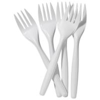 Forks White Plastic, Box 100