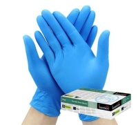 BASTION GLOVES VINYL PF EXTRA LARGE BLUE, BOX 100