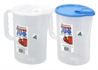 Plastic Jug 1.5 lt Clear With Lid, Each
