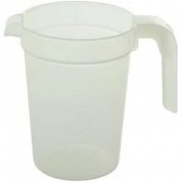 JUG GRADUATED 1 LTR CLEAR, EACH (NO LID)