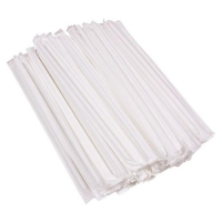 FLEXI DRINKING STRAWS INDIVIDUALLY WRAPPED 210MM, PKT 250