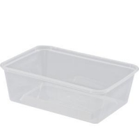 Rectangular Food Container Plastic 500mL, Box 500
