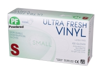 GLOVES ULTRA FRESH VINYL CLR PWD SMALL, Box 100