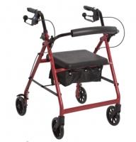 Seat Walker Aspire Classic 6 + Hand Brakes, Red, 6in Wheels, 130Kg