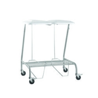 Double Linen Skip Stainless Steel with Foot Operated Lid