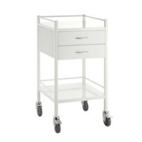 Dressing Trolley Powder Coat Steel 2 Draw, Each