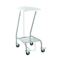 SINGLE LINEN SKIP STAINLESS STEEL WITH FOOT OPERATED LID, EACH