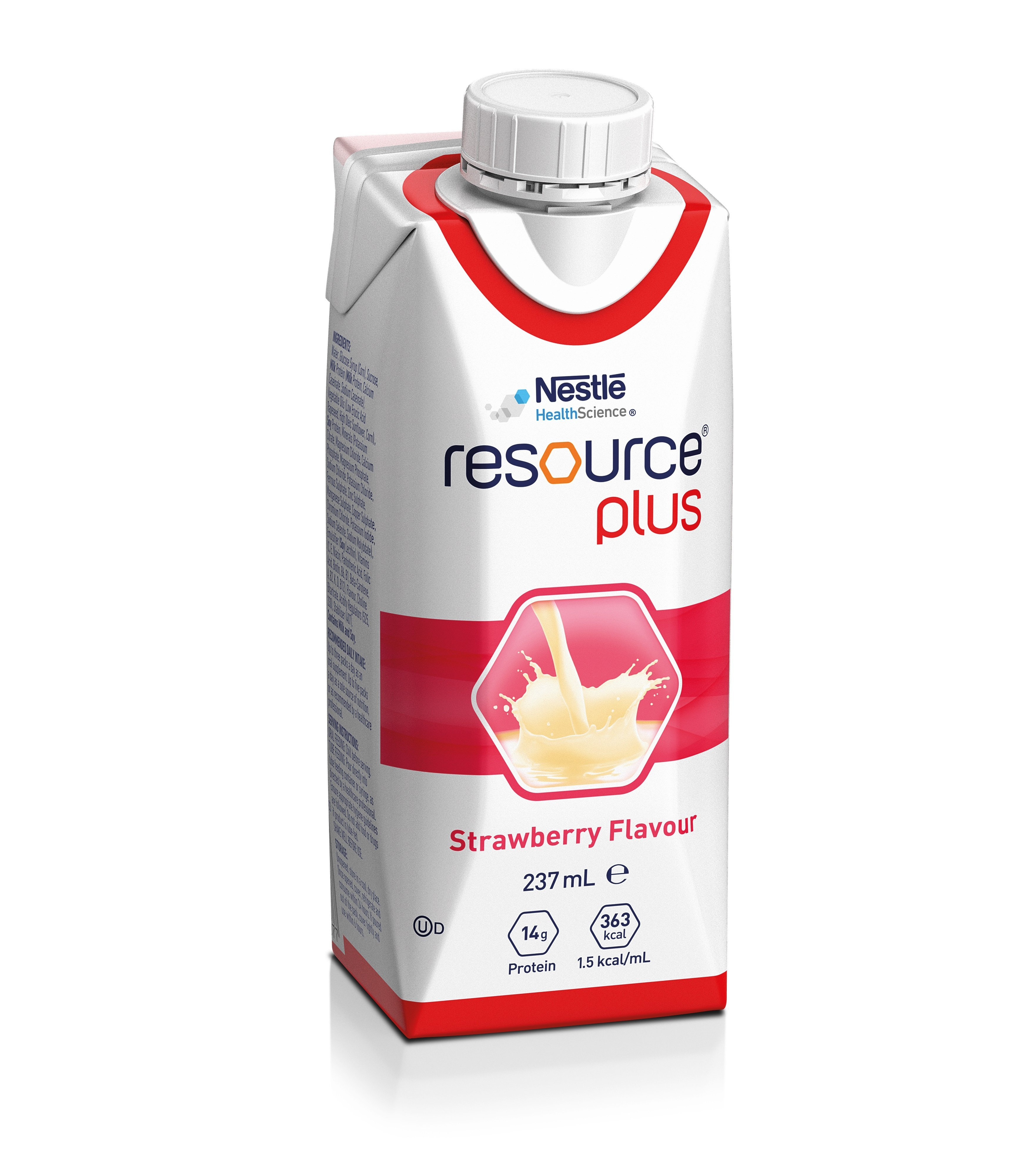 Resource Plus Strawberry 237ml, Box 24