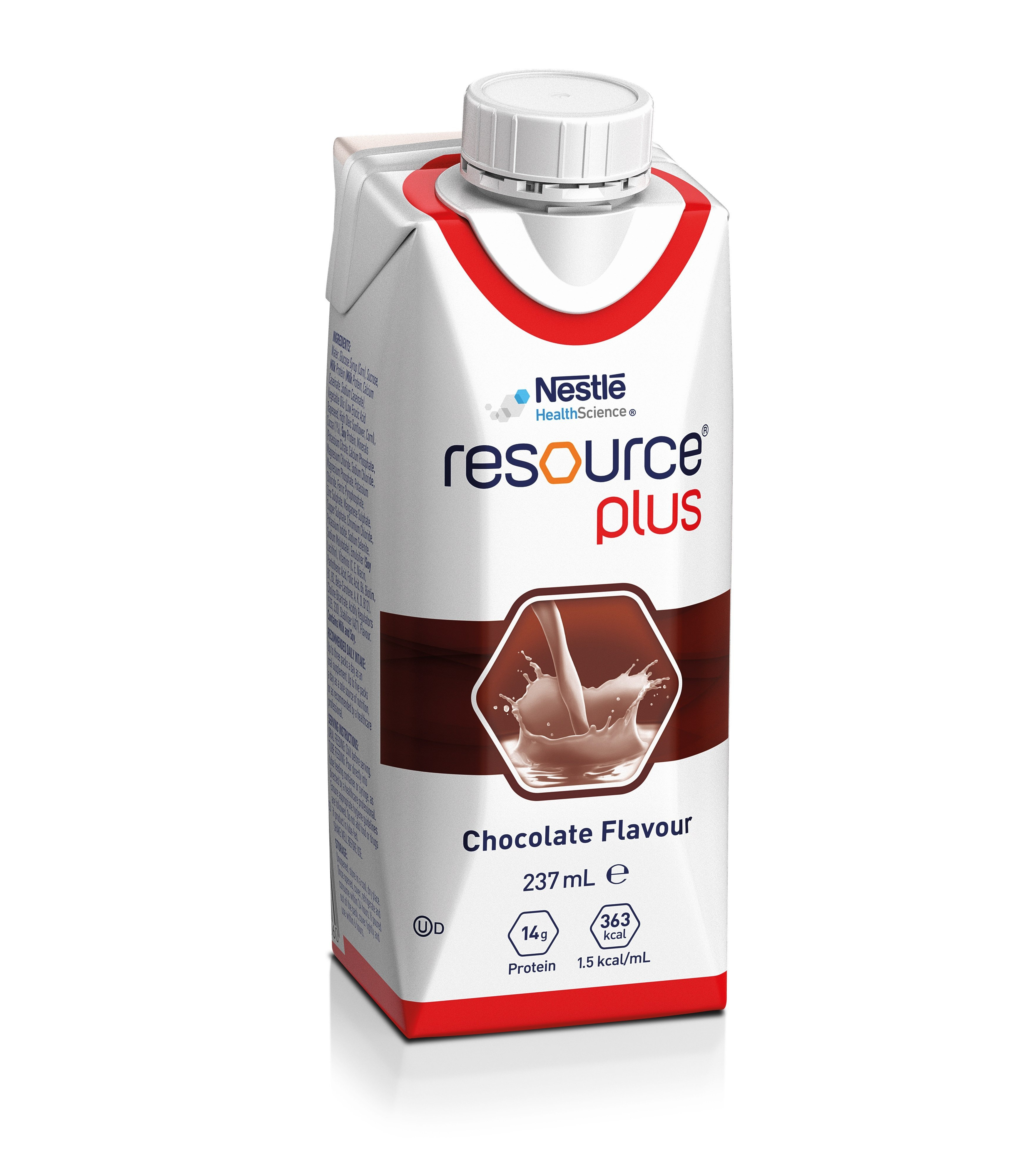 Resource Plus Chocolate 237ml, Box 24