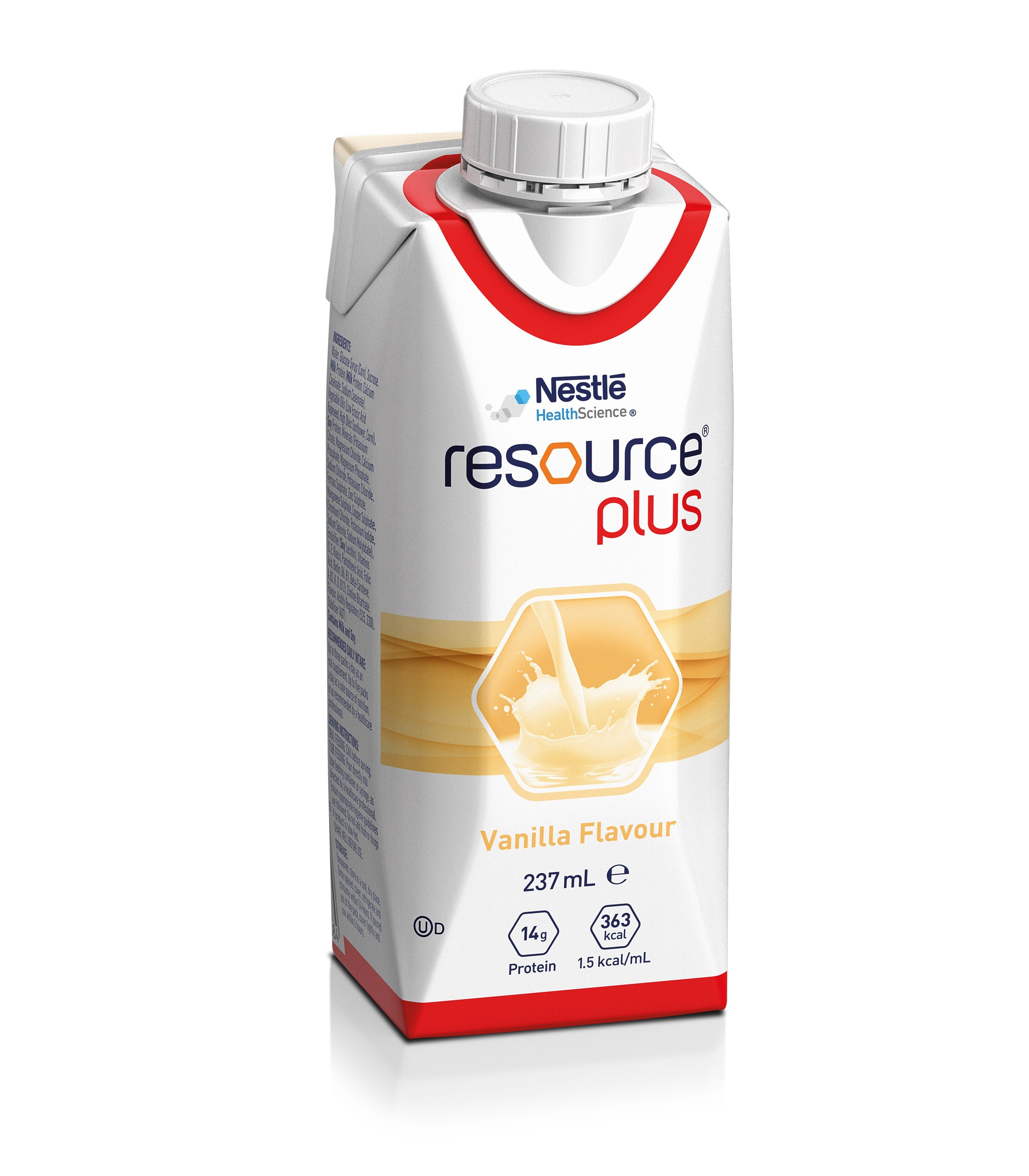 Resource Plus Vanilla 237ml, Box 24
