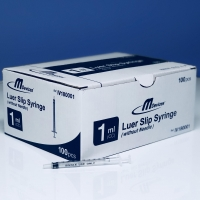 M Devices Syringe 1ml L-Slip, Box 100
