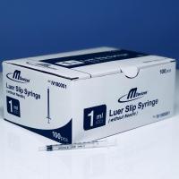Multigate Syringe 1ml L-Slip w/o needle, Box 100
