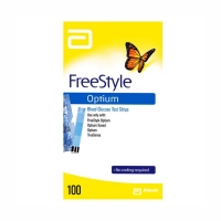 FREESTYLE OPTIUM GLUCOSE TEST STRIPS, BOX 100