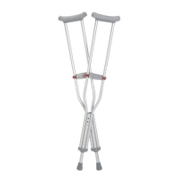 ALUMINIUM CRUTCHES UNDERARM ADULT TALL 136KG, PAIR