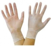 Acticare Gloves Vinyl Powder-Free CLEAR, Medium, Box 100