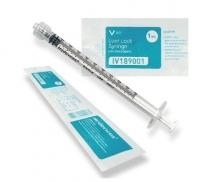M Devices Syringe 1mL L-Lock IV181001, Box 100