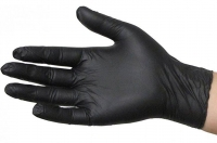Gloves Nitrile P/F BLK, Medium, Box 100 (Acticare)