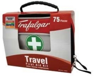 FIRST AID KIT TRAVEL PACK 75PCE, EACH