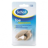 TOE FOAM SEPARATORS SCHOLL, 3 PACK