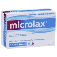 MICROLAX ENEMA TUBES 5ML, PKT 12