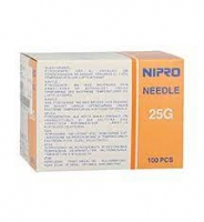 "NIPRO NEEDLE 25G (0.5 mm)x 1 ½"" (38 mm), BOX 100"