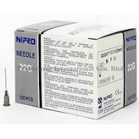 "NIPRO NEEDLE 22G (0.7mm) x ¾"" (20mm), BOX 100"
