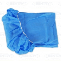 STRETCHER SHEET WITH ELASTIC ENDS BLUE 101CMx238CM, BOX100