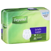 DEPEND BRIEFS SUPER MEDIUM 1737, Pkt 20