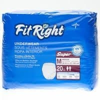 FitRight Super Underwear Medium, CTN 80