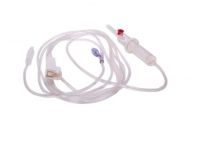TRANSFUSION SET WITH NEEDLELESS ACCESS SITE 220CM, EACH