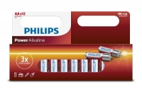 Phillips Battery/Alkaline AA, Pkt 12